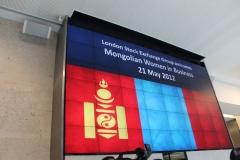 Market opening ceremony of London Stock Exchange